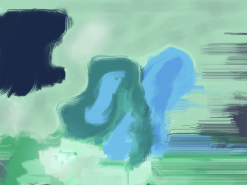 A digital painting created in the Krita Free/Open source painting program.  It was inspired by Georgia O'Keefe's Blue Flower.